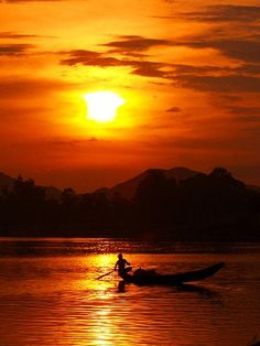 Sunset on the Perfume River in Huế, Vietnam