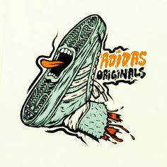 Jim Phillips take on his own iconic 'Screaming Hand' image for Adidas... I bet Mark Gonzales conned him into it, Artist to Artist. looks great, love the whole Zombie feel SkullyBloodrider.