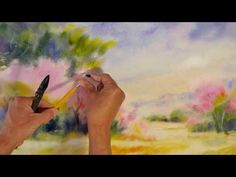Promenade en Provence - Démo aquarelle en mouillé sur mouillé (wet on wet watercolor) - YouTube