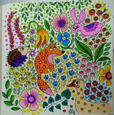 Jungle doodle with lots of flowers and plants as fillers Animal Doodles, Jungle Animals, Chalk Art, Videos, Flowers, Plants, Flora, Plant, Royal Icing Flowers