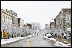 Winter in Wilmore, KY     MAIN STREET of Wilmore!  I worked for a local dentist on Main Street while I attended Asbury University!