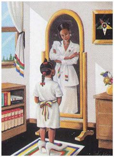 Eastern Star Black Art | It's A Black Thang.com - African American Art - Fraternity & Sorority