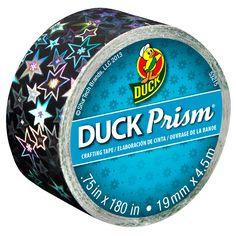Duck Prism® Mini Rolls - Small Stars http://duckbrand.com/products/craft-decor/prism-glitter-tape/prism-mini-rolls/stars-75-in-x-180-in?utm_campaign=craft-tapes-general&utm_medium=social&utm_source=pinterest.com&utm_content=prism-tape