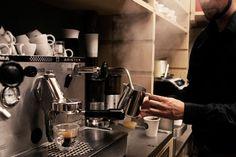 The italian way. Coffee Latte, Coffee Cups, Coffee Maker, Barista, Coffee Time, Espresso Machine, Dream Job, Shops, Mood