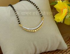 Provids large choice of high ornament compilations, conventional Gold Ornament for mothers. Diamond Mangalsutra, Gold Mangalsutra Designs, Gold Jewellery Design, Beaded Jewelry, Gold Jewelry, Gold Bangles, Jewelry Necklaces, Gold Necklace, Pendant Necklace