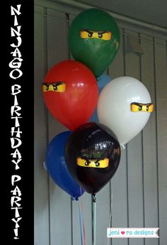 Happy 6th Birthday, Boy Birthday Parties, Birthday Party Decorations, Teen Party Games, Party Themes For Boys, Kids Party Planner, Ninjago Party, Balloon Decorations, Party Planning