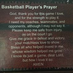 Basketball Player's Prayer Mounted, Basketball Poem on Canvas, Athlete's Prayer Poem on Canvas by PersonalWordsmith on Etsy Jordan Basketball, Basketball Wall, Basketball Tricks, Basketball Is Life, Basketball Workouts, Basketball Skills, Basketball Gifts, Basketball Coach, Basketball Jersey