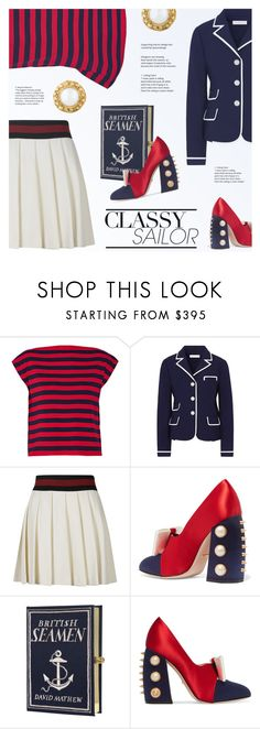 """""""Classy Sailor"""" by redflowergirl on Polyvore featuring Miu Miu, Tory Burch, Gucci, Olympia Le-Tan and Chanel"""