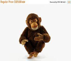 On Sale Vintage Steiff Jocko Chimpanzee Stuffed by GizmoandHooHa
