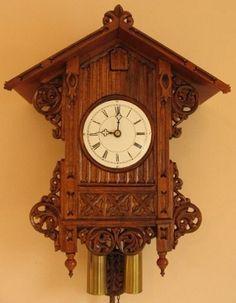 Cuckoo Kingdom, Inc - Bahnhausle Cuckoo Clock, Railway Station Reproduction, Model