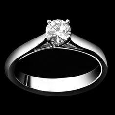 Solitario - LAG3820  Anello in oro bianco 18 kt. griffes a filo. www.liguorigioielli.it/it/anello_solitario_roma_collezione_bridal_liguori_gioielli-43.htm #liguorigioielli #gioielli #jewels #roma #italy #anello #solitario #matrimonio #weddingring