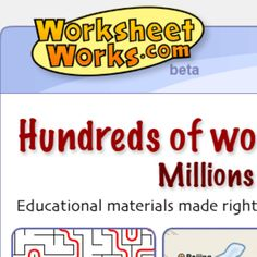 Worksheets Works allows you to choose through a library of math, English, geography, puzzle, & graphic organizer templates.  Pick a template and then customize it to meet the needs of your lesson.  http://www.worksheetworks.com/