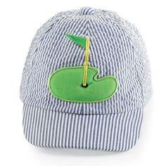 f60639f2baa Mud Pie Baby Boys Golf Design Baseball Cap - 0-12 months Little Boy Outfits