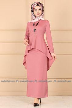 Islamic Fashion, Muslim Fashion, Modest Fashion, Fashion Dresses, I Dress, Peplum Dress, Hijab Dress Party, Kurti Designs Party Wear, Muslim Dress