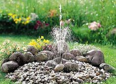 Garten Gestalten   Springbrunnen Als Blickfang Im Eigenen Garten