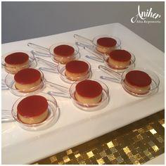 Mini quesillos Wedding Desserts, Mini Desserts, Churros, Minis, Cart, Pudding, Sticker, Vases, Ladybug