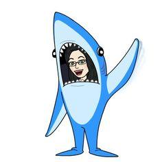 The author inside a shark suit!