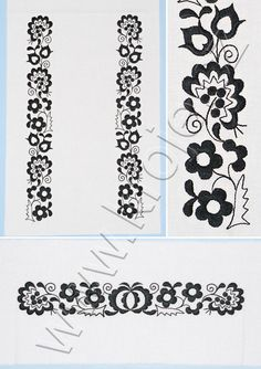 European Countries, Czech Republic, Folklore, Stencil, Costume, Draw, Embroidery, Traditional, Floral