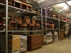 The McKinley Presidential Library & Museum recently opened a new storage wing.  Part of the furniture collection is shown here.