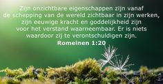 14 juli 2017 - Bijbeltekst van de dag - Romeinen 1:20 - DailyVerses.net