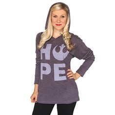 Star Wars Hope Ladies' Hooded Pullover Star Wars Hoodie, Star Wars Tshirt, Star Wars Love, Geek Chic, Cool Outfits, T Shirts For Women, Pullover, Hoodies, My Style
