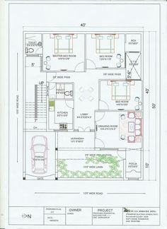 floor plan and elevation in 5 cent Drawing House Plans, Indian House Plans, Free House Plans, Small House Plans, Modern Floor Plans, Contemporary House Plans, Duplex House Plans, House Floor Plans, 30x50 House Plans