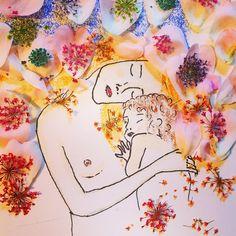 #gustavklimt #klimt #motherandchild #love #mother #child #inspiration #floral #flower #illustration #drawing #painting #art #artistic #artist #artwork #sketch #doodle #colour @arts_help @artpeoplegallery @floraprints @flora.forager @instagram