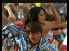 this song from High School Musical One for all and all for one!s Can you spot Miley Cyrus making a quick appeareance! 'All for One. High School Vs College, High School Art, Zac Efron And Vanessa, Vanessa Hugens, High School Musical Reunion, Dance Videos, Music Videos, Comedia Musical, Zack E Cody