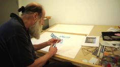"""Lawrence Weiner by Hillman Curtis (www. """"I thought an artist went out and worked and worked and after a while came down the mountain with a pack on and laid out what they've done. Debbie Millman, Creative Hub, Conceptual Art, Make Me Happy, That Way, Inspire Me, Photo Art, Hand Lettering, Documentaries"""
