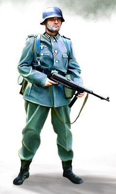 Wehrmacht soldier by ~anderpeich on deviantART