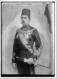 Lord Kitchener in uniform after he returned to Egypt as British Agent and Consul-General.