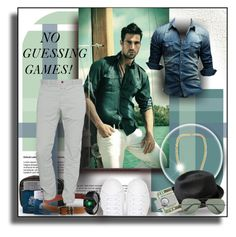 """""""NO GUESSING GAMES!"""" by angelflair ❤ liked on Polyvore featuring Branca, Trilogy, English Laundry, Chrome Hearts, Closed, Marc Jacobs, Bailey of Hollywood, American Coin Treasures, Ray-Ban and men's fashion"""