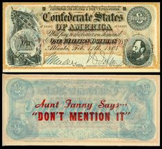 Yesterday's Papers | Confederate money