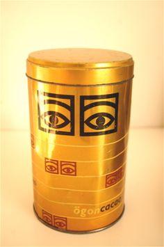 ögon kakao- purkki