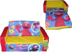 Sesame Street   Elmo U0026 Friends Flip Open Sofa #Kids #Furniture #Christmas #
