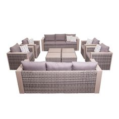 Freeport Conversation 10-piece Furniture Set | Overstock™ Shopping - Big Discounts on Atlantic Sofas, Chairs & Sectionals