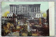 San Francisco Earthquake Fairmount Hotel Postcard c1906, California by OakwoodView, $8.00