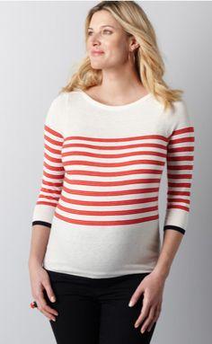 LOFT maternity 3/4 sleeve boatneck sweater