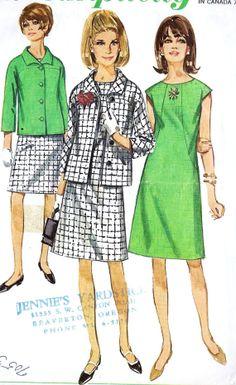 1960s Misses A Line Dress and Jacket Vintage by MissBettysAttic, $8.00