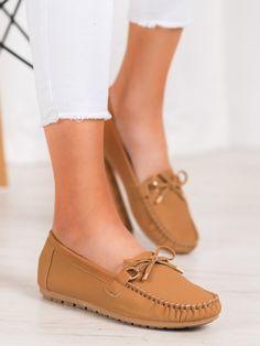 Hnedé mokasíny z eko kože Boat Shoes, Flats, Fashion, Women, Loafers & Slip Ons, Moda, Fashion Styles, Moccasins