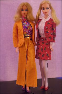 70s Barbies - European Partytime Barbie and Walk Lively Barbie