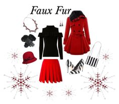"""Red & Black Faux Fur"" by belairdesigns ❤ liked on Polyvore featuring 3.1 Phillip Lim, Betmar, Exclusive for Intermix, Miu Miu, Alice + Olivia, fauxfur and fauxfurcoats"