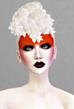 Trendy Makeup Ideas : red white and black… Fantasy Queen, Fantasy Make Up, Make Up Art, How To Make, Tribal Makeup, Foto Fashion, Make Up Looks, Special Effects Makeup, Costume Makeup