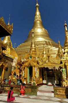 Golden Temple, Rangoon, Burma one of my favorite places and a little bit of it is always in my art these days