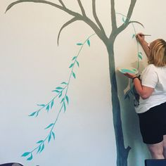 Nursery wall painting - Willow - In progress - Day 2