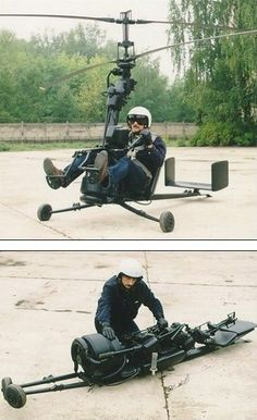 Portable helicopter. I don't personally know this guy, but based upon this picture alone, he's cooler than me.