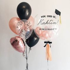 round clear graduation balloons with latex and mylar confetti rose gold balloons Order Balloons, Balloons Online, Jumbo Balloons, Clear Balloons, Round Balloons, Rose Gold Balloons, Bubble Balloons, Bubbles, Transparent Balloons