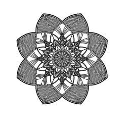 Mandala, Pattern, White, Black