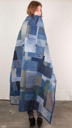 Quilt   SilkDenim #silkdenim #upcycle #denim #quilt: