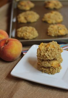 Quick and Easy Breakfast~ Peaches and Cream Baked Oatmeal Breakfast Cookies